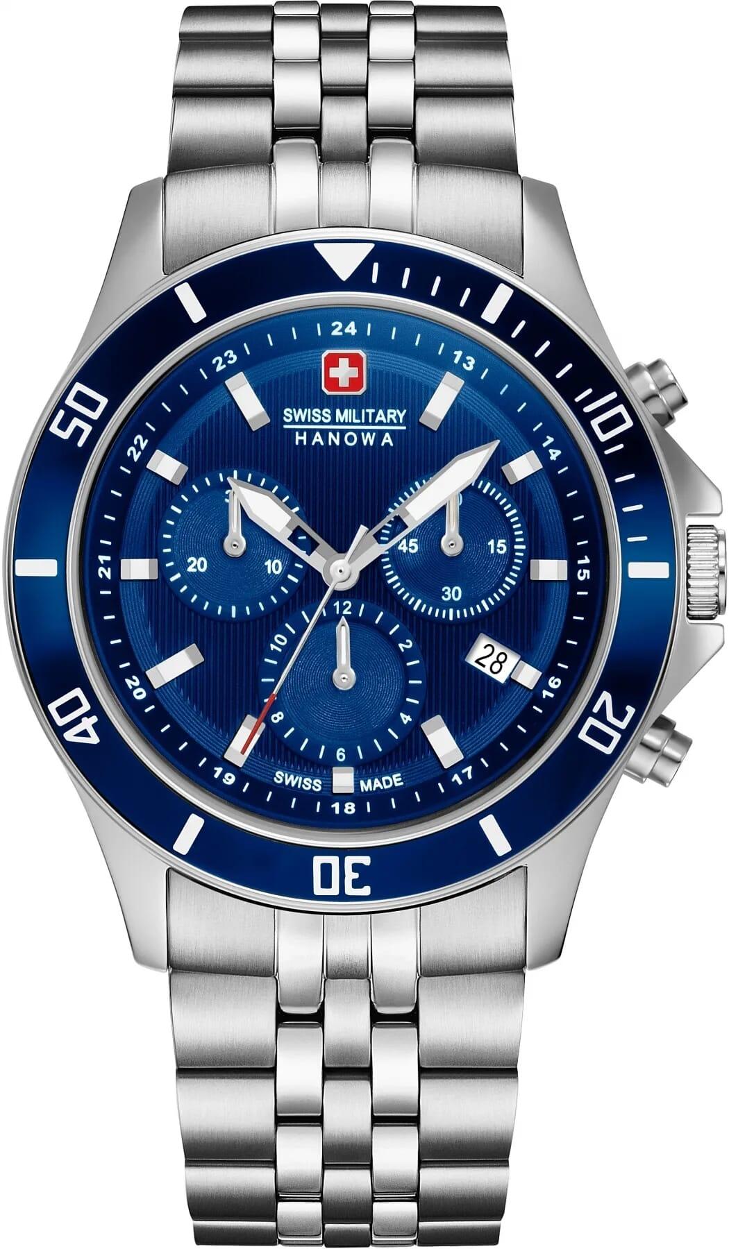 Swiss Military Hanowa 06 5331.04.003 Flagship Chrono II Heren Horloge