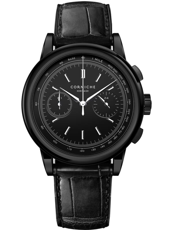 Corniche Heritage All Black Chronograph