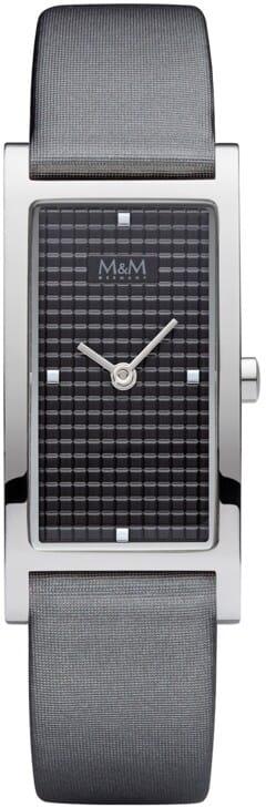 M&M Germany M11918-848 Square line Dames Horloge