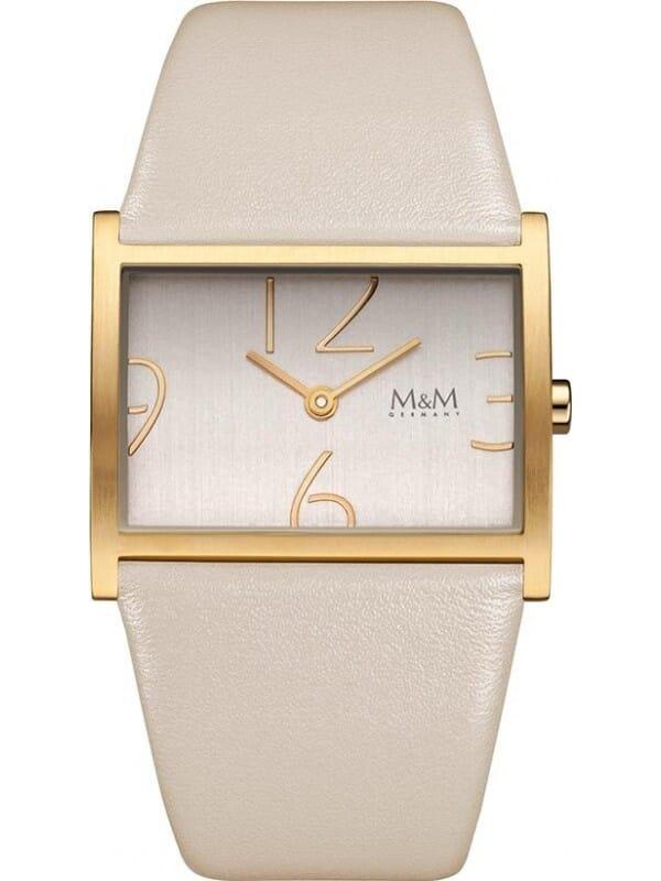 M&M Germany M11905-913 Square line Dames Horloge
