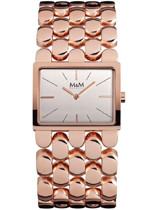 M&M Germany M11912-992 Square line Dames Horloge
