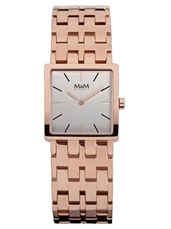 M&M Germany M11914-992 Square line Dames Horloge
