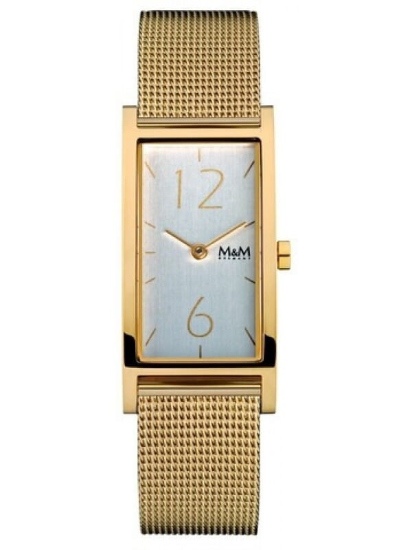 M&M Germany M11918-233 Square line Dames Horloge