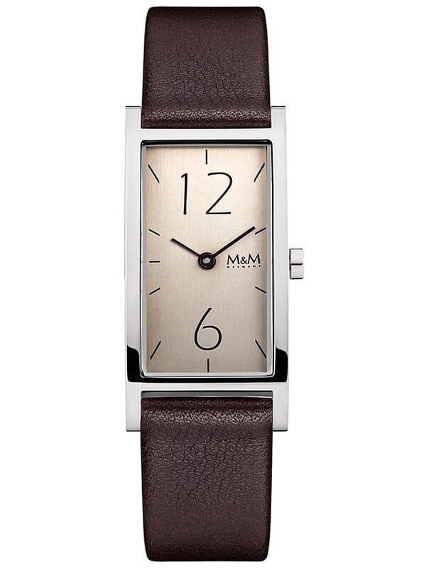 M&M Germany M11918-543 Square line Dames Horloge