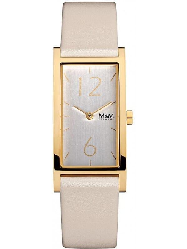 M&M Germany M11918-933 Square line Dames Horloge