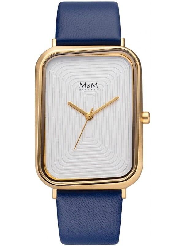 M&M Germany M11947-927 Square line Dames Horloge