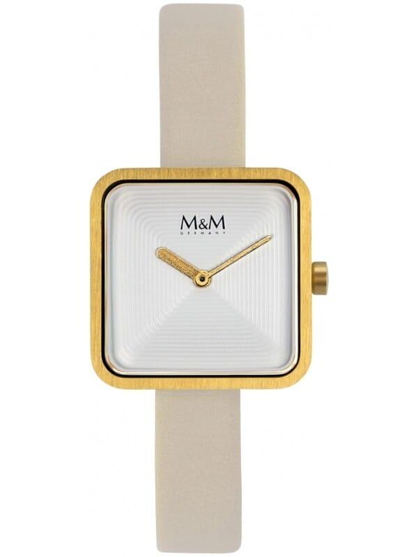 M&M Germany M11951-732 Square line Dames Horloge