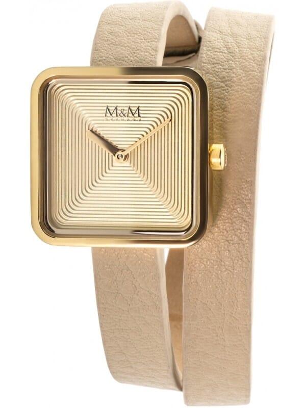 M&M Germany M11951-732L Square line Dames Horloge